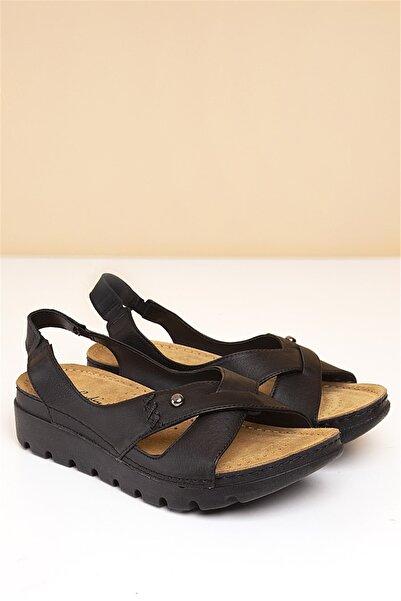 Pierre Cardin 01-Siyah Kadın  Sandalet PC-1380-3630-3030835