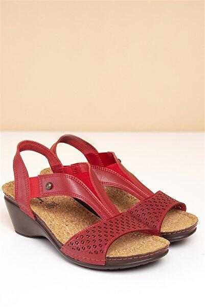 Pierre Cardin Pc-1392 Kırmızı Kadın Sandalet