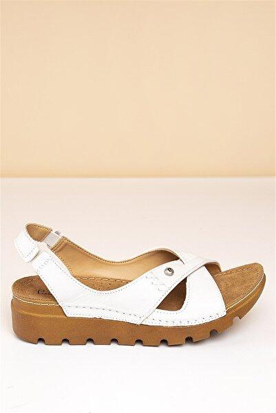 Pierre Cardin 19-Beyaz Kadın  Sandalet PC-1380-3630-16645629