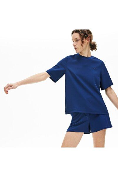Lacoste Motion Kadın Bisiklet Yaka Kısa Kollu Saks Mavi Bluz CF5919