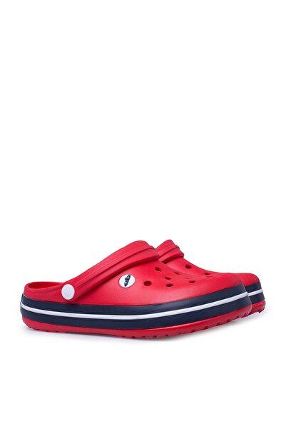 Kırmızı Lacivert Beyaz Kadın Terlik E195Z000