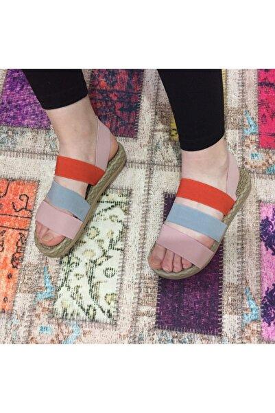 Say Çok Renkli Batlı Sandalet