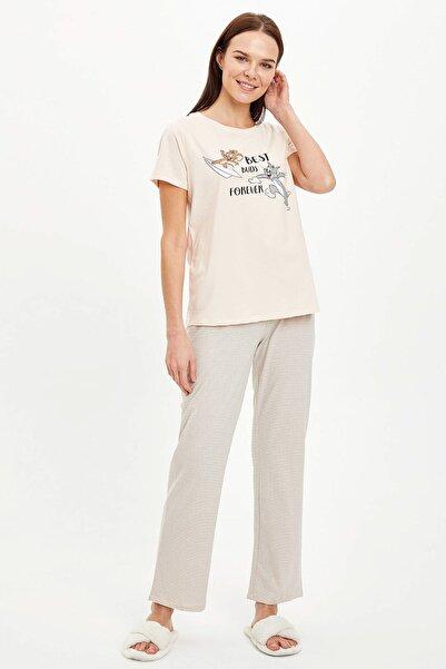 DeFacto Kadın Pembe Baskılı Pijama Takımı R0021AZ.20SM.PN232