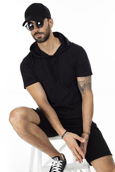Slim Fit Kapüşonlu T Shirt ERKEK T SHİRT 5412021