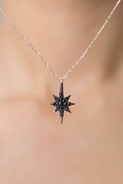 Kadın Kutup Yıldızı Model Zirkon Taşlı 925 Ayar Gümüş Kolye