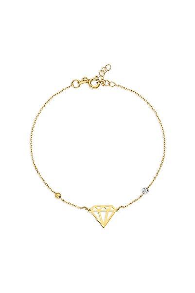 Yurtsevens Boutique Elmas Işlemeli Altın Bileklik