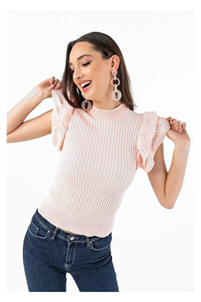 Tiffany A0135 Fırfırlı Bluz