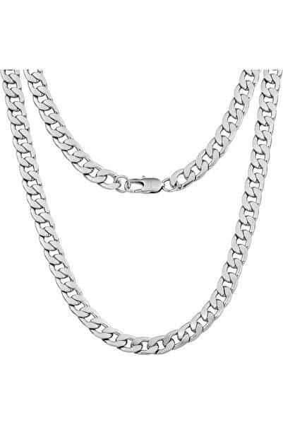 MELDİ Gourmet Zincir Gümüş Kolye 60 Cm - 11 Mm
