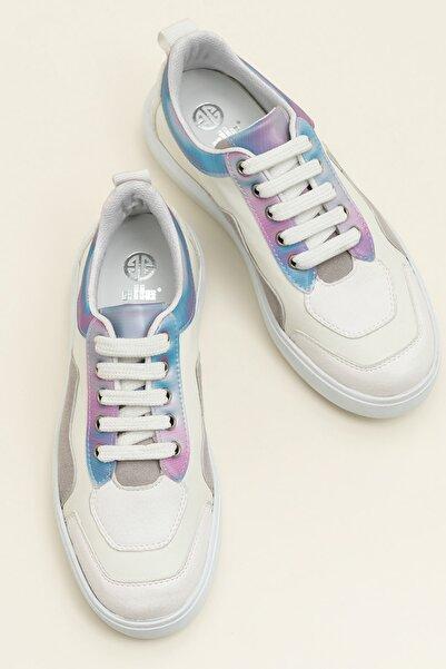 Elle Shoes MAYAR Beyaz Kombin Kadın Ayakkabı