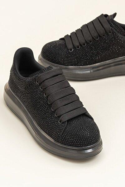 Elle Shoes Destınya Siyah Kadın Sneaker 20Ysdmo118-1