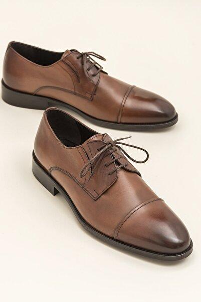 Elle Shoes Hakiki Deri Olav Taba Erkek Klasik Topuklu Ayakkabı 20Ysn1156