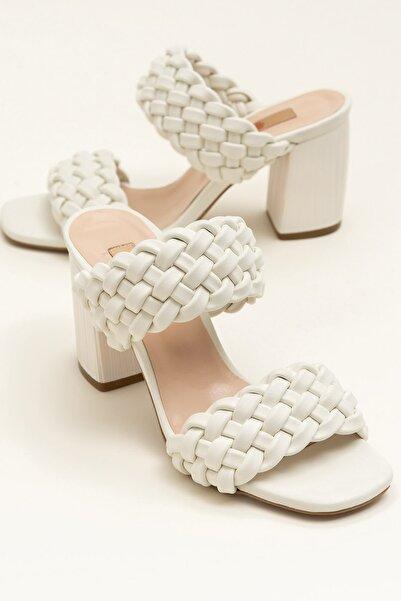 Elle Shoes KLARA Ecru Terlik 20YDS58210