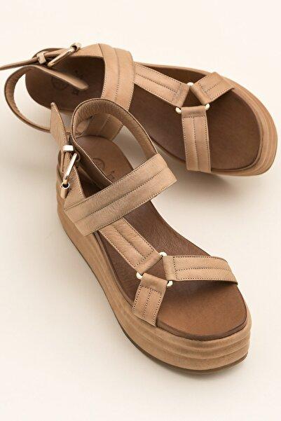 Elle Shoes JALIYAHH Naturel Sandalet 20YLT468007