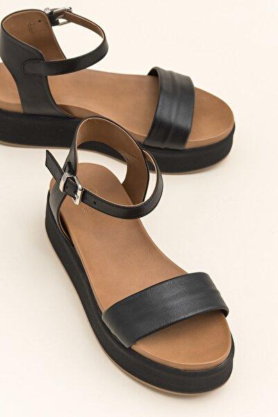 Elle Shoes TRUDE Siyah Sandalet 20YLT484015