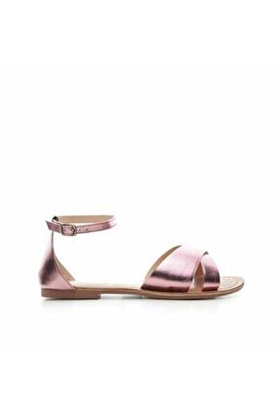 Kadın Mor Deri Sandalet 7YKAY4056X