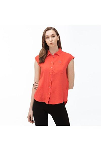 Lacoste Kadın Kolsuz Turuncu Gömlek CF0051