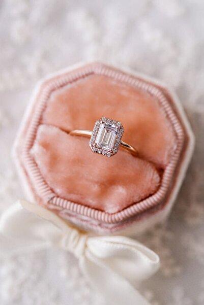 Crystal Diamond Zirconia 1.30 Carat Baget Labaratuvar Pırlantası Baget Yüzük