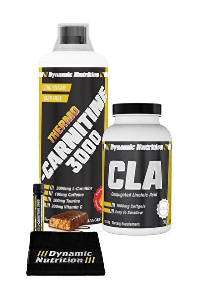 Dynamic Nutrition Dynamic Thermo L-Carnitine 3000 mg 1000 ml + CLA 90 Kapsül + 3 HEDİYE
