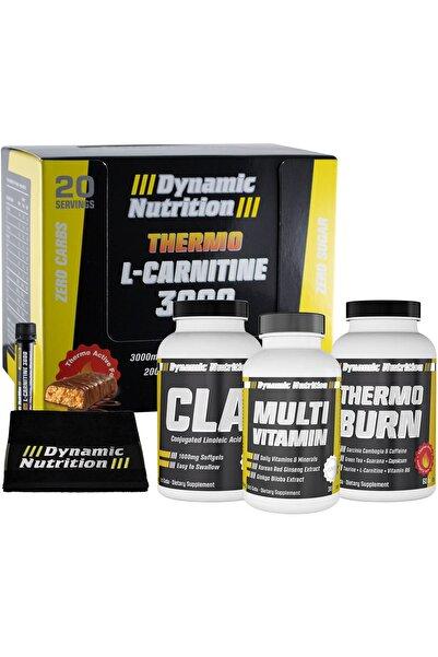 Dynamic Nutrition Thermo L-Carnitine 3000 mg 20 Ampul+CLA 90 Kapsül+Thermo Burn 60 Tablet+Multivitamin 30 Tablet