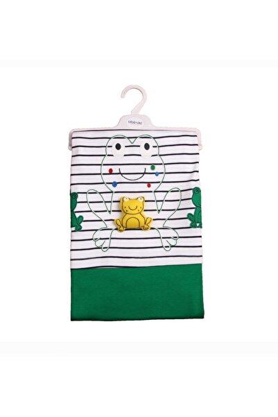 Albimini Minidamla Kurbağalı Bebe Battaniye 11851 Yeşil