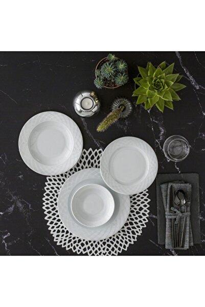 Güral Porselen Alfa 48 Parça 12 Kişilik Yemek Takımı