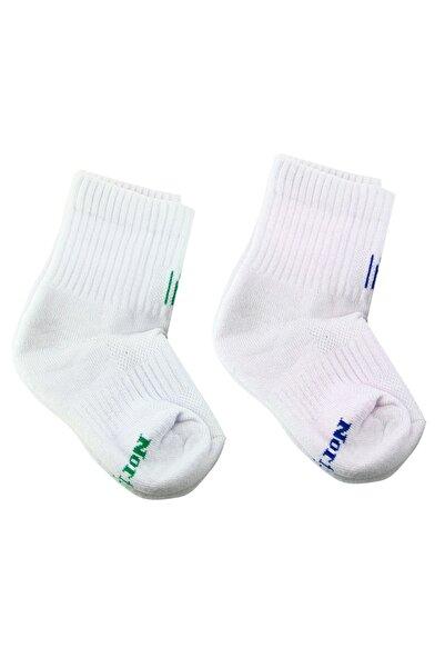 NORFOLK Spor Bebek 2'li Beyaz Çorap Seti