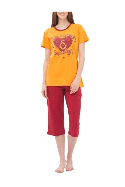 GSStore Kadın Turuncu Kırmızı Lisanslı Pijama Takımı  4675