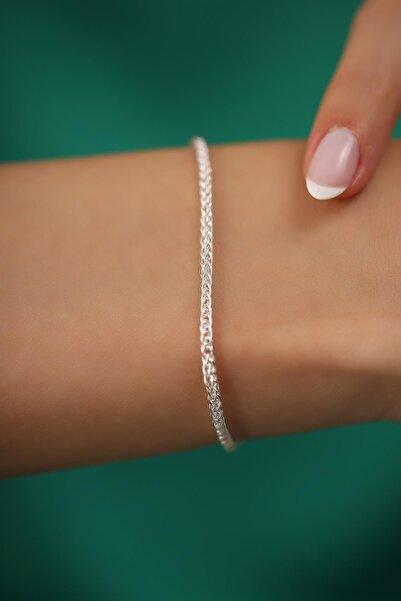 İzla Design Hasır Model Gümüş İtalyan Bileklik