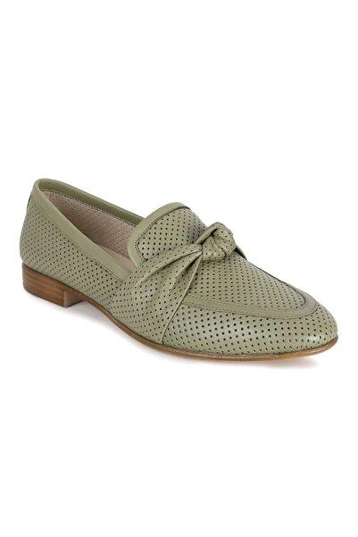 Erdoğan Deniz shoes & accessories Alegra Yeşil Deri Babet