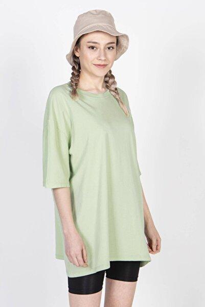 Kadın Açık Yeşil Basic Tişört P9439 - A1 ADX-0000022241