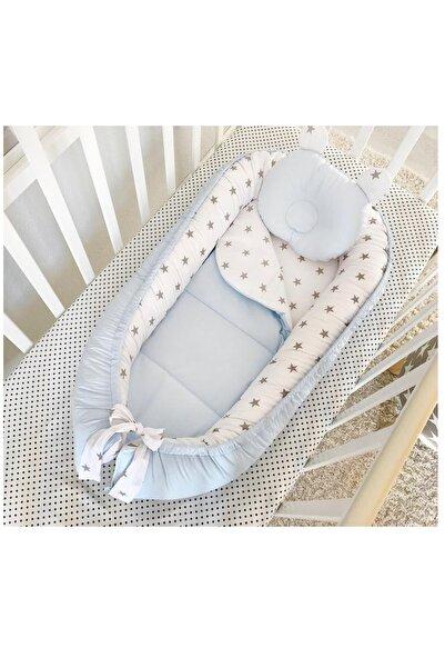 Jaju Baby Mavi Içi Yıldız Tasarım Lüx Ortopedik Babynest