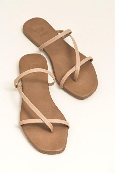 Elle Shoes KELLEY Naturel Terlik 20YLT476004