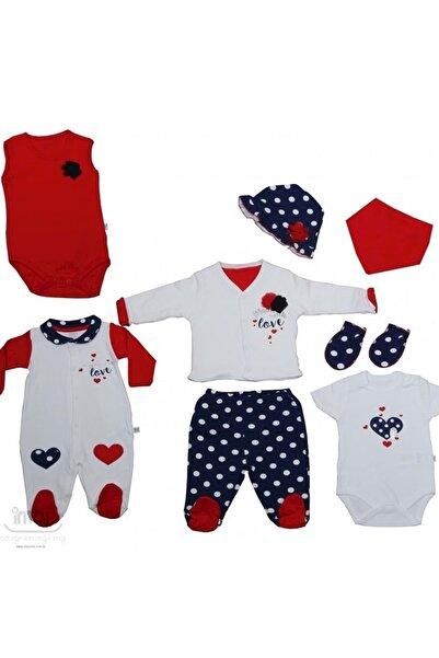 İmaj Baby Love Kız Bebek 8 Li Hastane Çıkışı Kırmızı
