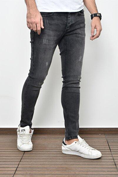 PHILIPLOREN K.Antrasit Bilek Boy Tintli Likralı Skinny Fit Kot Pantolon - Bl11395r02
