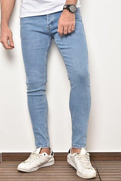 PHILIPLOREN Buz Mavi Bilek Boy Likralı Skinny Fit Kot Pantolon - Bl11393r03