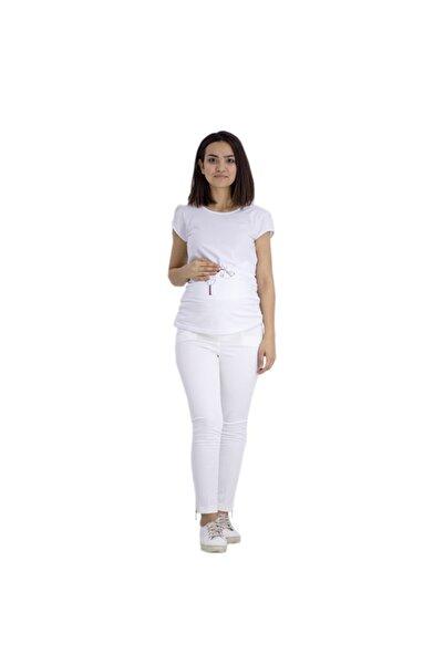 Sedef-cadde Kadın Beyaz Sedef Cadde Hamile Kumaş Pantolon