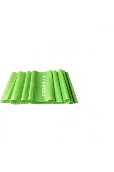 Leyaton Pilates Bandı Jimnastik Plates Lastiği 150x15 cm Egzersiz Aerobik Bant 1 Adet Yeşil