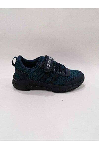 Sanbe Kadın Haki  Ortopedik Spor Ayakkabı 26-35 Lacivert