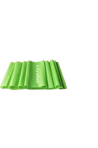 Leyaton Pilates Bandı Jimnastik Plates Lastiği 90x15 cm Egzersiz Aerobik Bant 1 Adet Yeşil