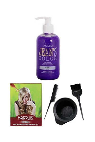 Acacia Saç Boyası Leylak 250ml, Saç Açıcı Ve Fluweel Saç Boya Kabı Seti