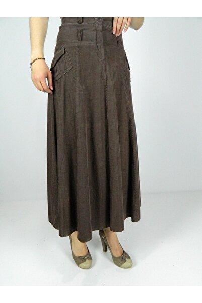 Kadın Kadife Uzun Etek