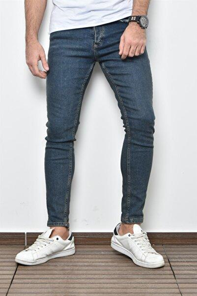 PHILIPLOREN K.Lacivert Bilek Boy Likralı Skinny Fit Kot Pantolon - BL11393R02