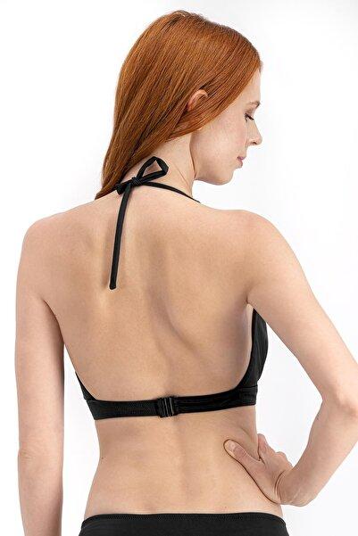 Siyah Basic Derin V Bikini Üstü