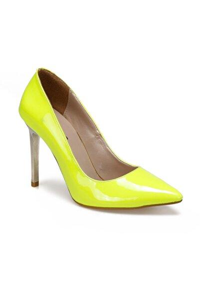 Butigo 19k-976 Neon Sarı Kadın Topuklu Ayakkabı