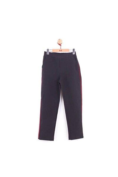 NK Kız Çocuk Yan Kırmızı Biyeli Siyah Kumaş Pantolon