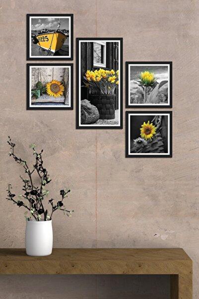 Cadran Collage Style 5 Parçalı Mdf Tablo Atf296