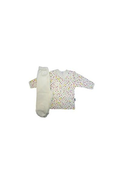 Sema Baby Bebek Pijama Takımı - Krem