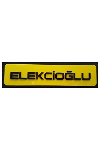 BoostZone Elekcioğlu Dekor Sarı Plaka