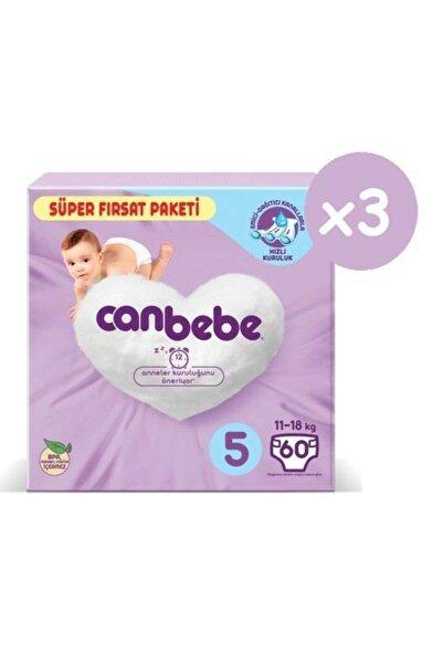 Canbebe Süper Fırsat Paketi Bebek Bezi 5 Numara 60x3 180 Adet