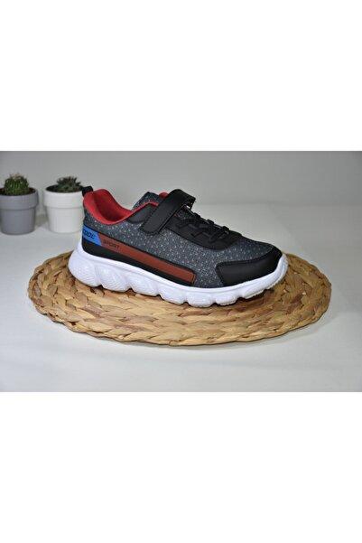 I COOL Çocuk Siyah Kırmızı Spor Ayakkabısı